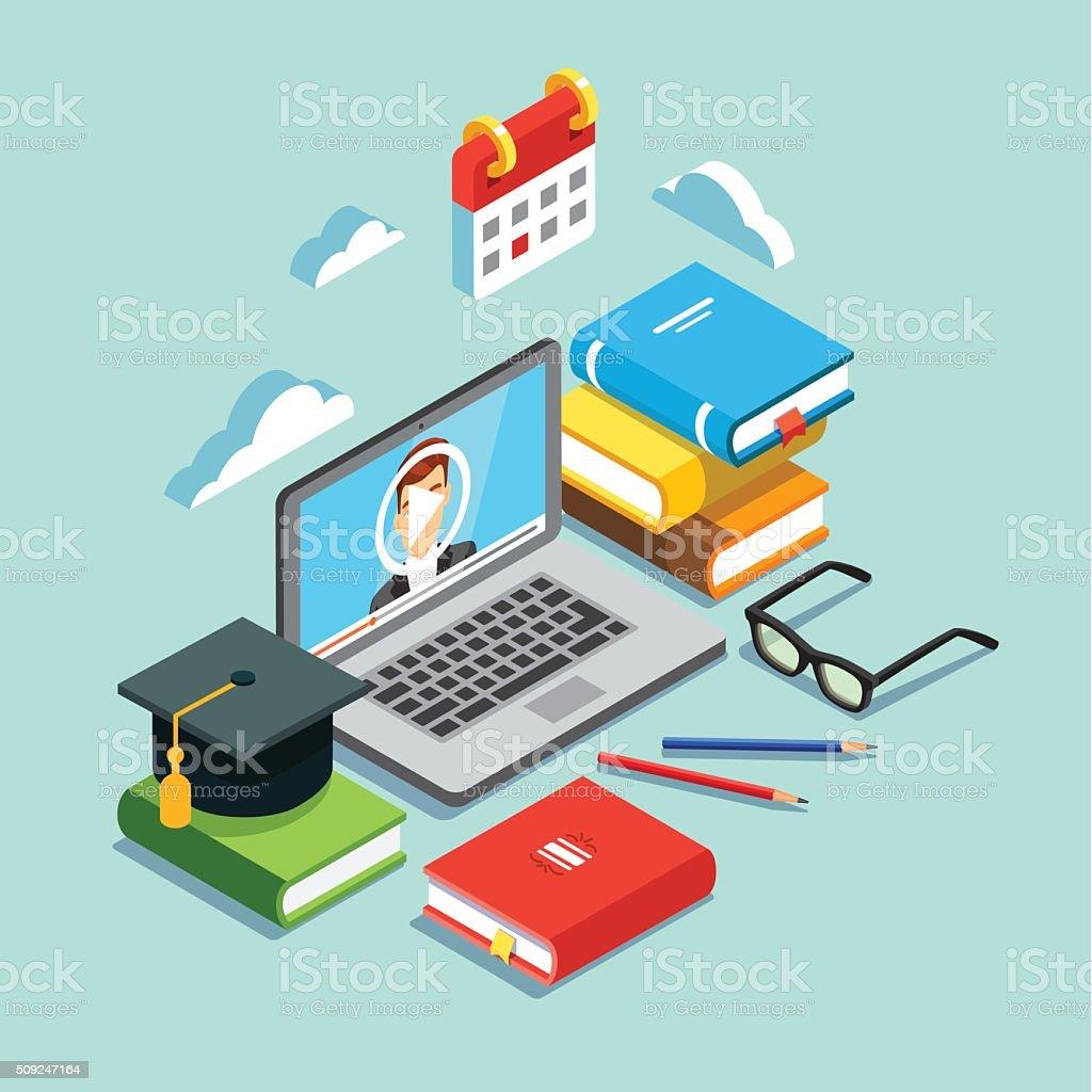 オンライン教育のコンセプト ベクターアートイラスト