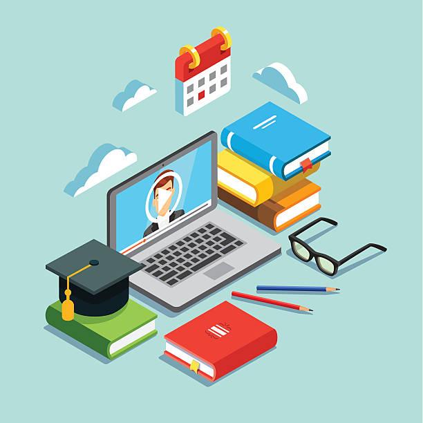 online education concept - workout calendar stock illustrations, clip art, cartoons, & icons