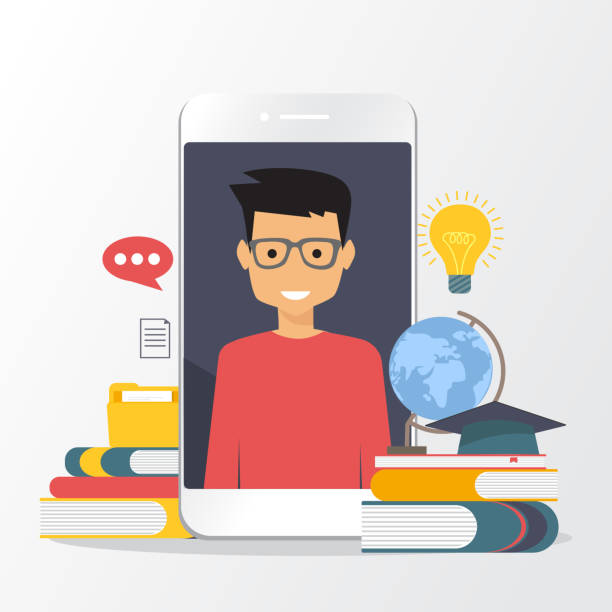 Online education, distance learning. Flat modern illustration concepts vector art illustration