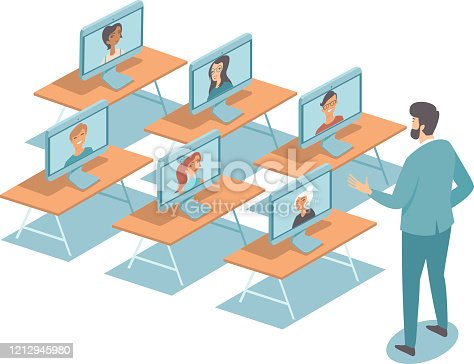 istock Online education during quarantine COVID-19 coronavirus disease outbreak concept 1212945980