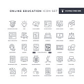 29 Online Education Icons - Editable Stroke - Easy to edit and customize - You can easily customize the stroke with