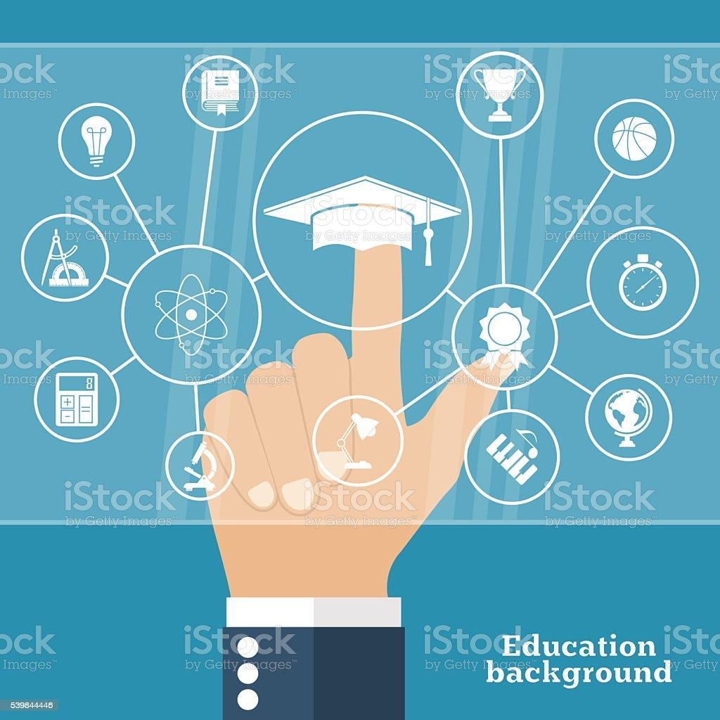 Online education, e-learning. vector art illustration