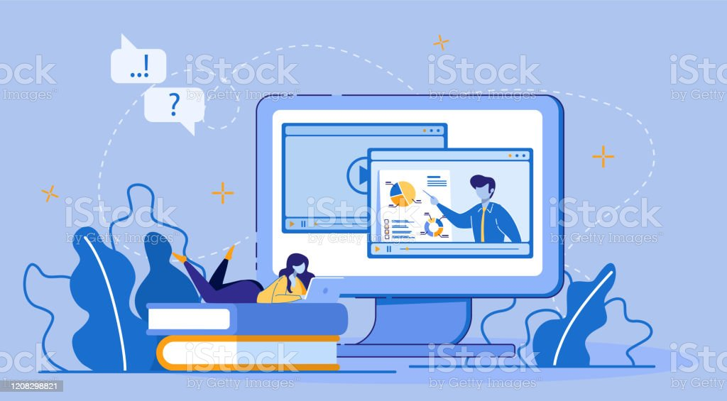 Online Education Elearning Via Digital Device Stock Illustration Download Image Now Istock