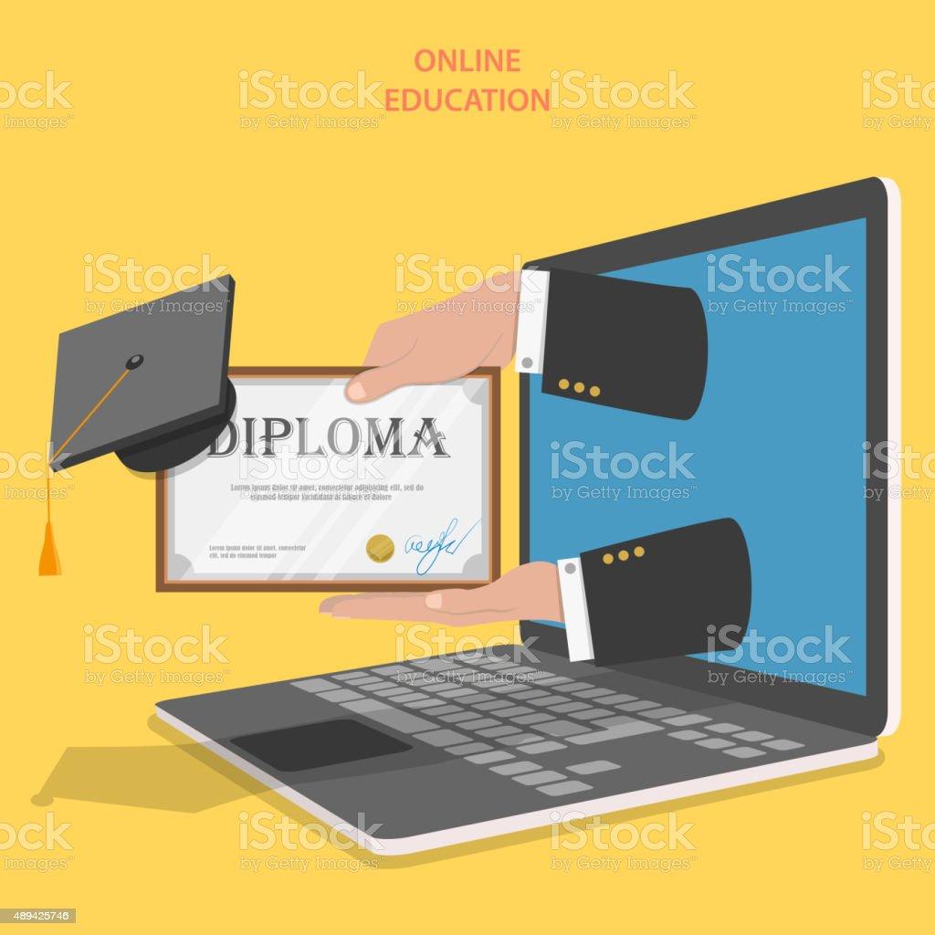 Online-Bildung flache Vektor-Konzept. – Vektorgrafik
