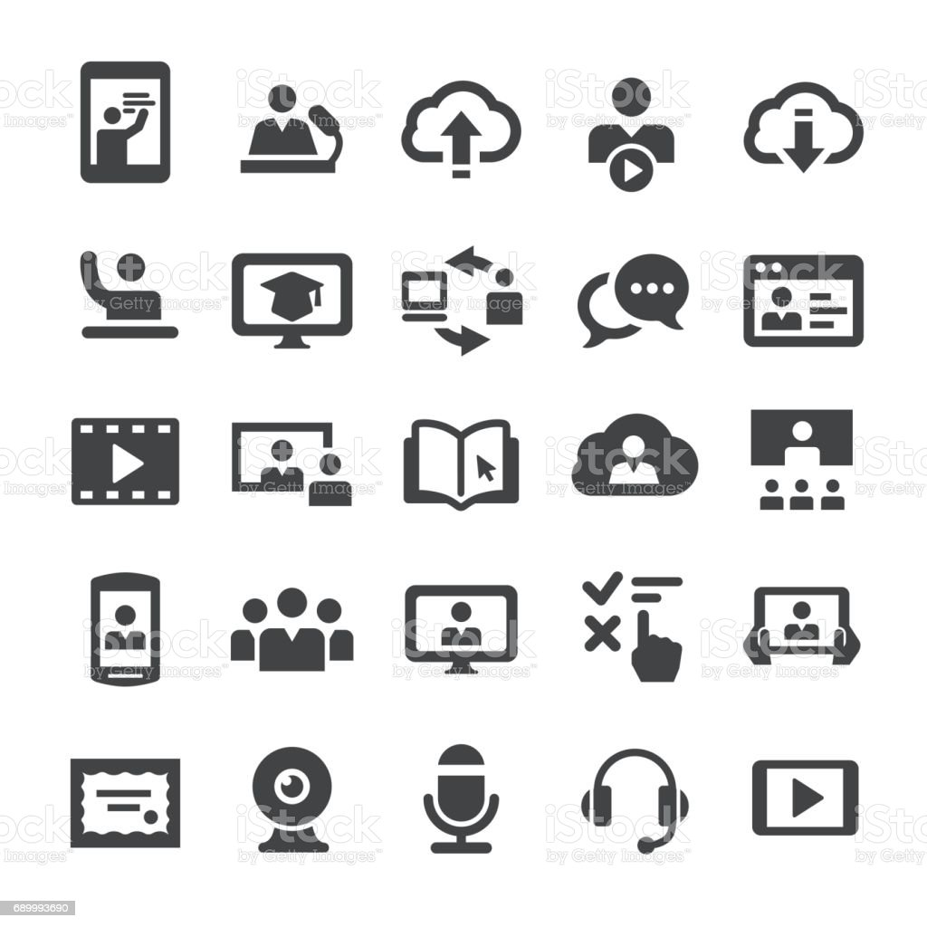 Online Education Icons - Smart Series vector art illustration