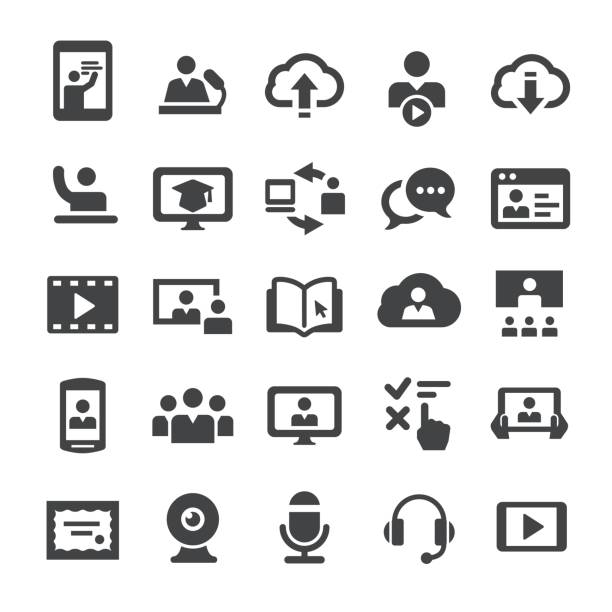 online education icons - smart series - train stock illustrations, clip art, cartoons, & icons