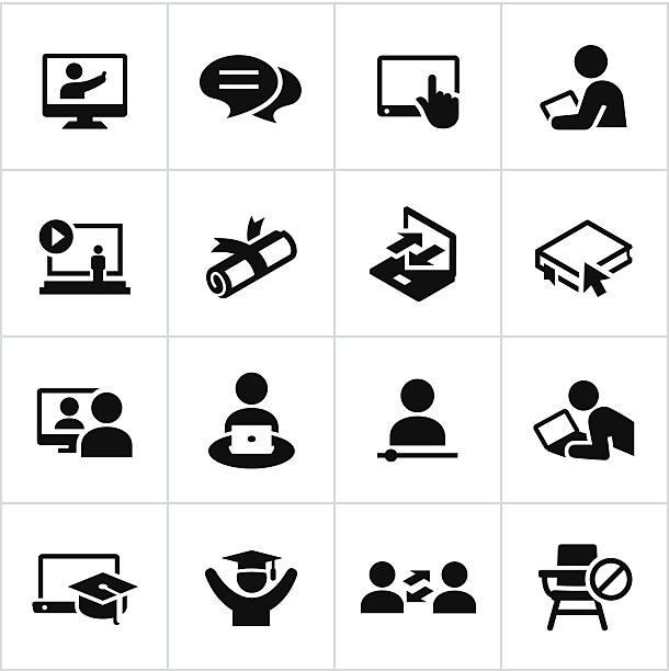 オンライン教育のアイコン - 作文の授業点のイラスト素材/クリップアート素材/マンガ素材/アイコン素材
