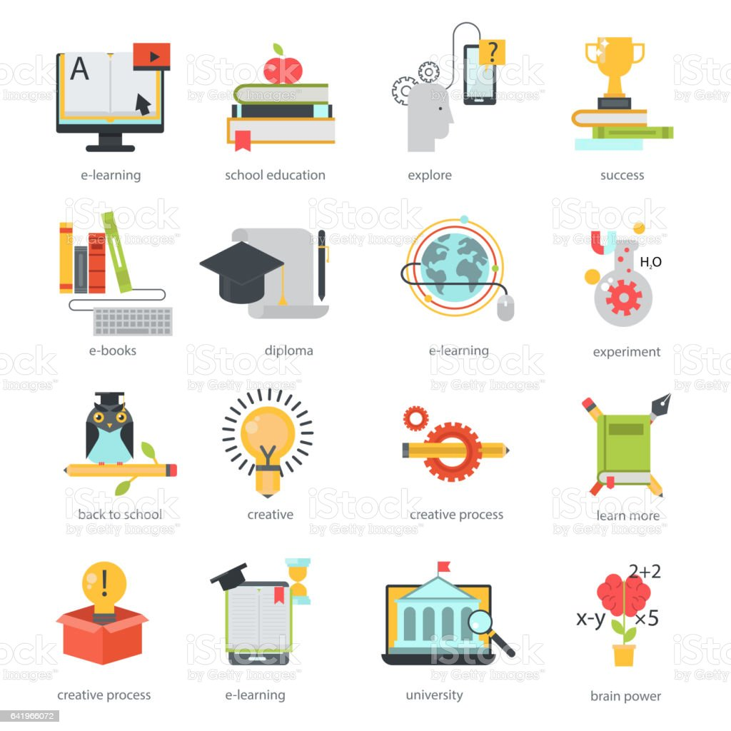 Online education icons vector set distance school symbols stock online education icons vector set distance school symbols royalty free online education icons vector set buycottarizona Image collections