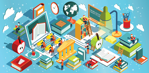 Student life stock illustrations