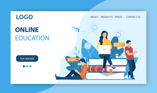Online education landing page.