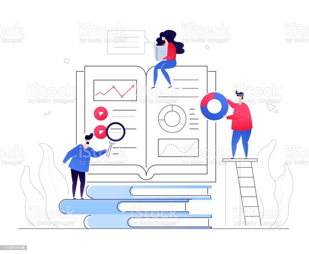 Éducation en ligne-illustration moderne de style plat coloré - Illustration vectorielle