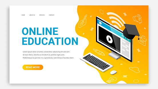 Online education pc landing page