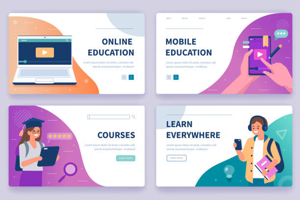 online education - online learning stock illustrations