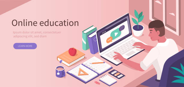 Online-Bildung – Vektorgrafik