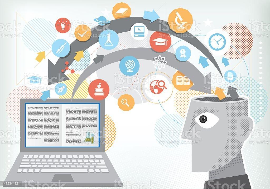 Éducation en ligne - Illustration vectorielle