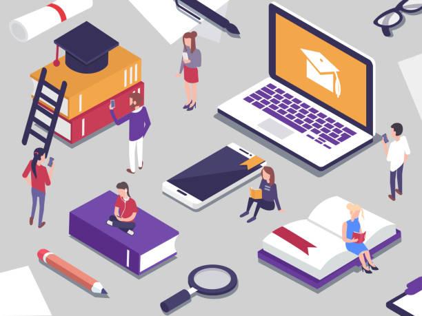 illustrazioni stock, clip art, cartoni animati e icone di tendenza di online education - didattica a distanza