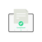 istock Online Exam on Tablet Computer Vector Design on White Background. 1272548996