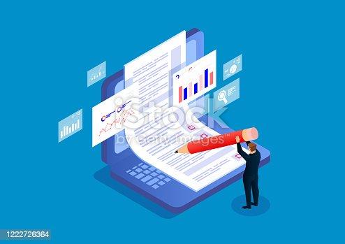 istock Online exams, questionnaires, online recruitment 1222726364