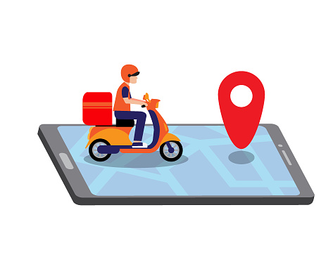 Online express delivery concept