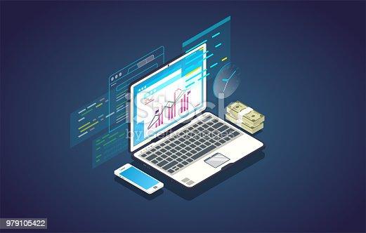 istock Online finance analytics banner 979105422