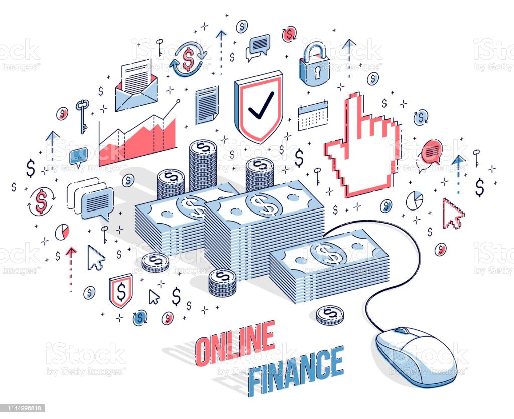 Online Finance Concept Web Payments Internet Earnings Online Banking