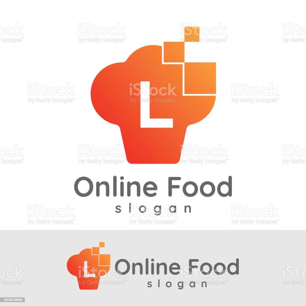 Conception De Cuisine En Ligne Initiale Lettre L Icône