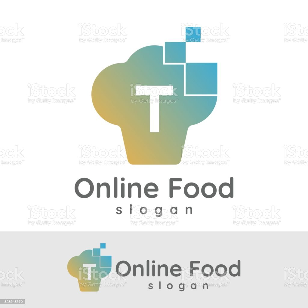 online food initial letter t icon design royalty free online food initial letter t icon