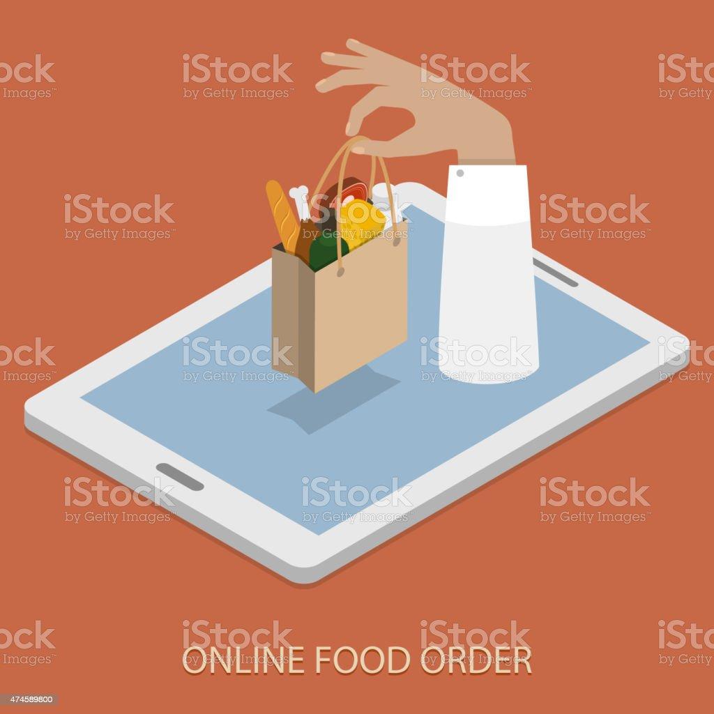 Bestellen Online Foood Konzept Illustration. – Vektorgrafik
