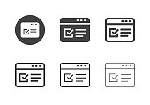 Online Form Icons Multi Series Vector EPS File.