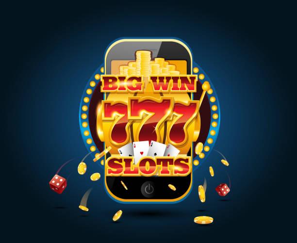 Jeu en ligne concept cellphone casino app - Illustration vectorielle