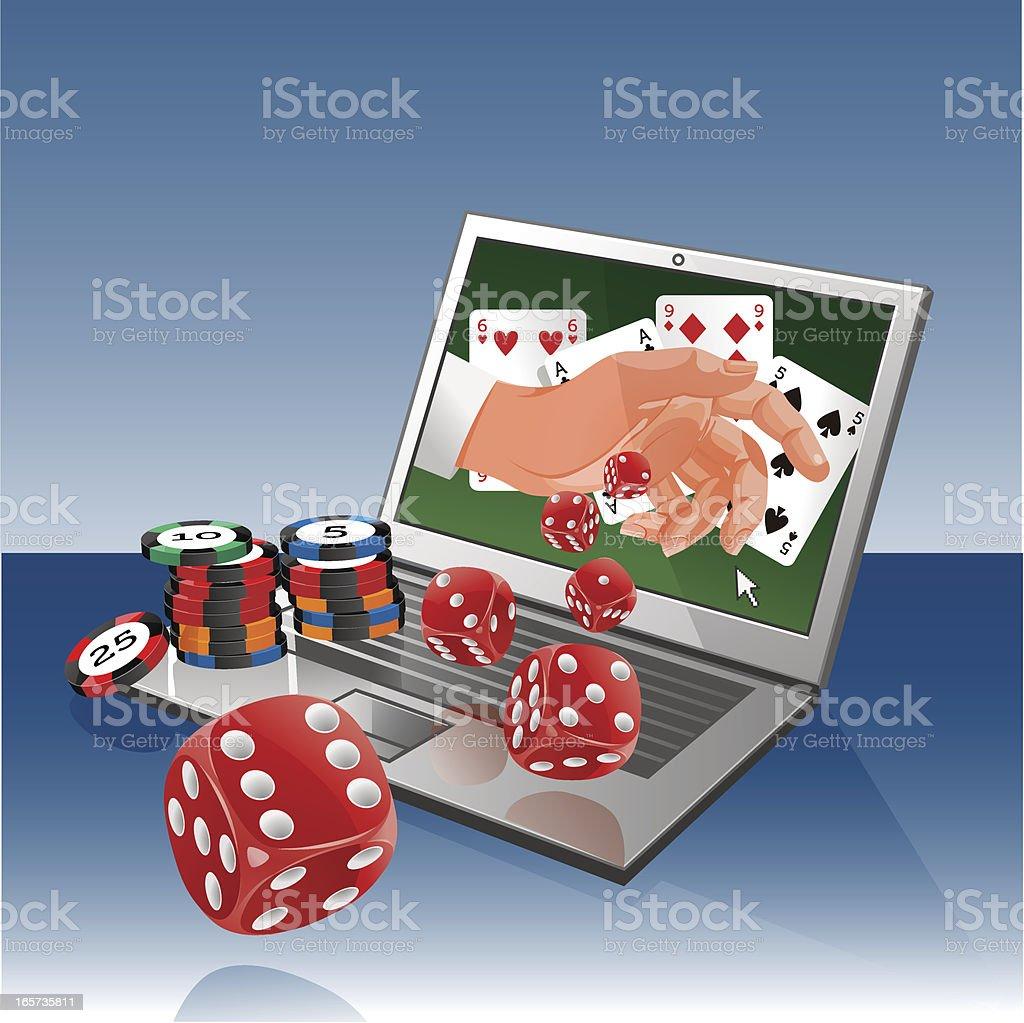Online Gambling vector art illustration