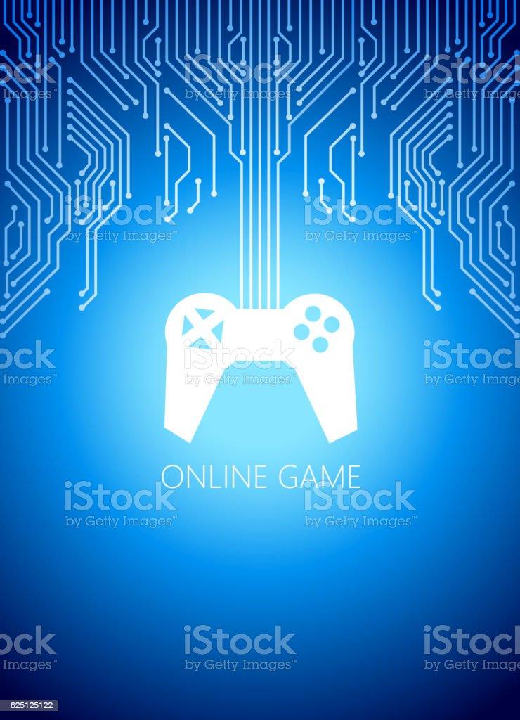 Online game vector art illustration