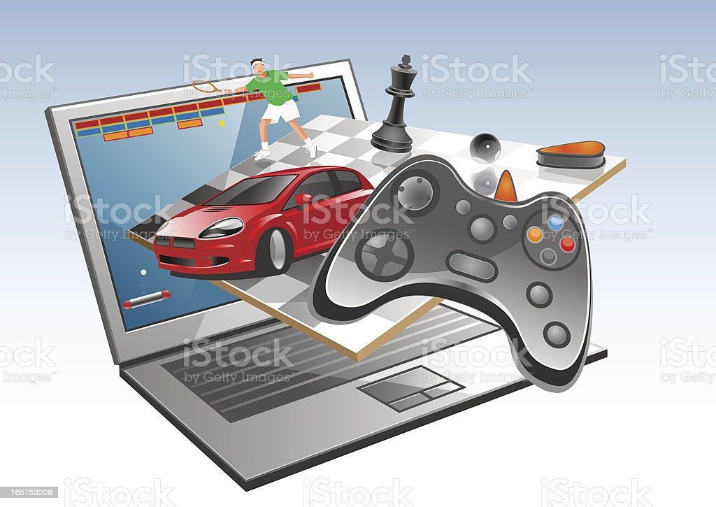 Online gaming royalty-free stock vector art