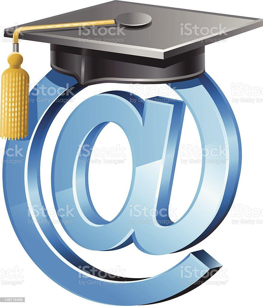 Online Graduation royalty-free stock vector art