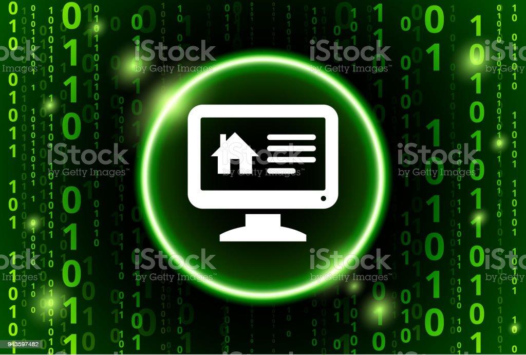 online house binary code vector pattern background stock vector art