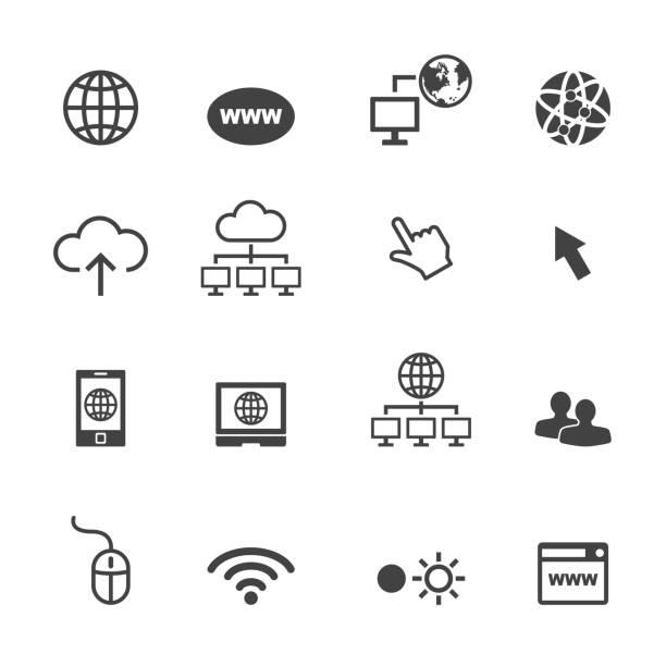 illustrations, cliparts, dessins animés et icônes de icônes en ligne - www