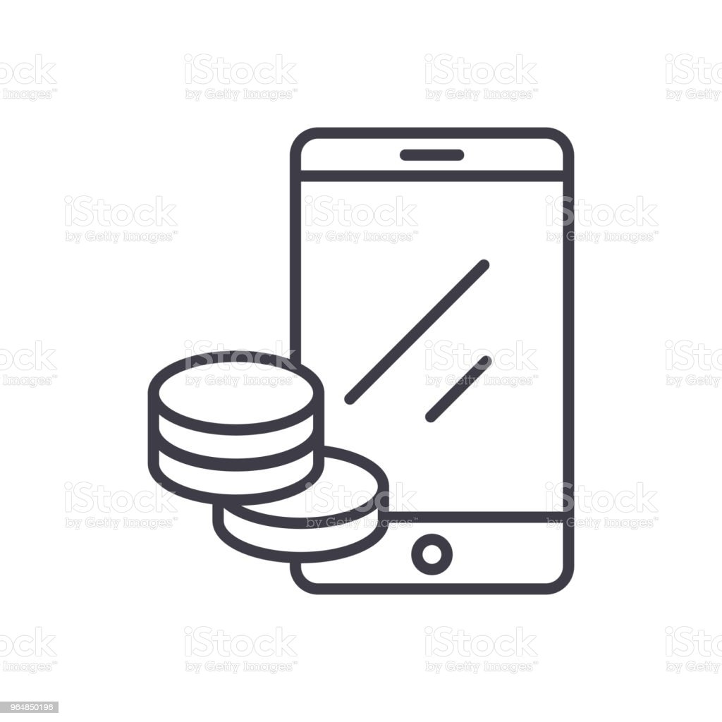 Online income black icon concept. Online income flat  vector symbol, sign, illustration. royalty-free online income black icon concept online income flat vector symbol sign illustration stock vector art & more images of analyzing