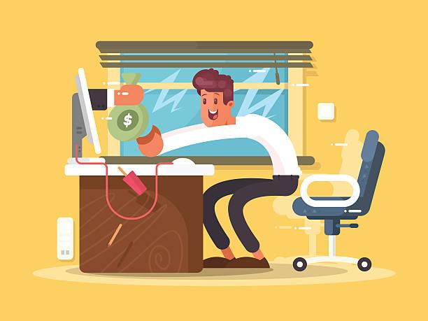 Online income freelance - ilustración de arte vectorial