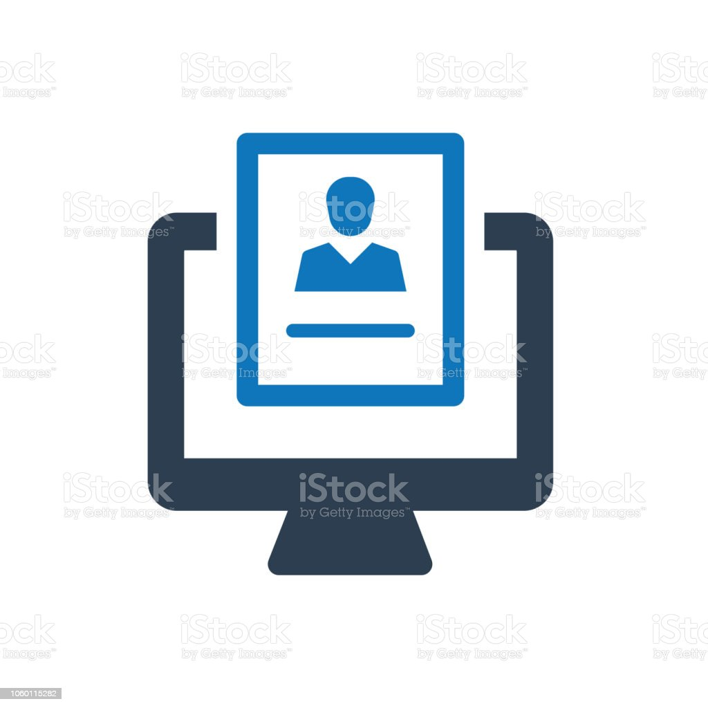 online job application icon stock vector art more images of