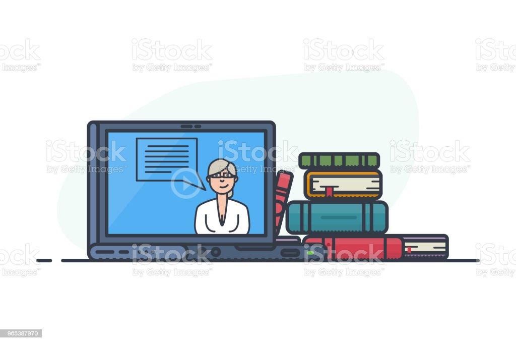 concept d'apprentissage en ligne - clipart vectoriel de Affaires libre de droits