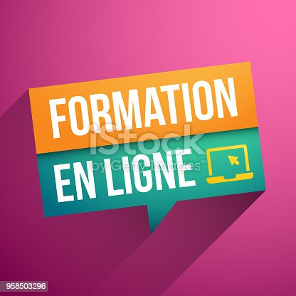 istock Online learning in French 958503296
