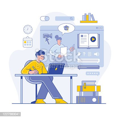 istock Online learning 1227583041