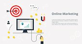 istock Online marketing concept internet bisiness and advertising icons - vector 547234270