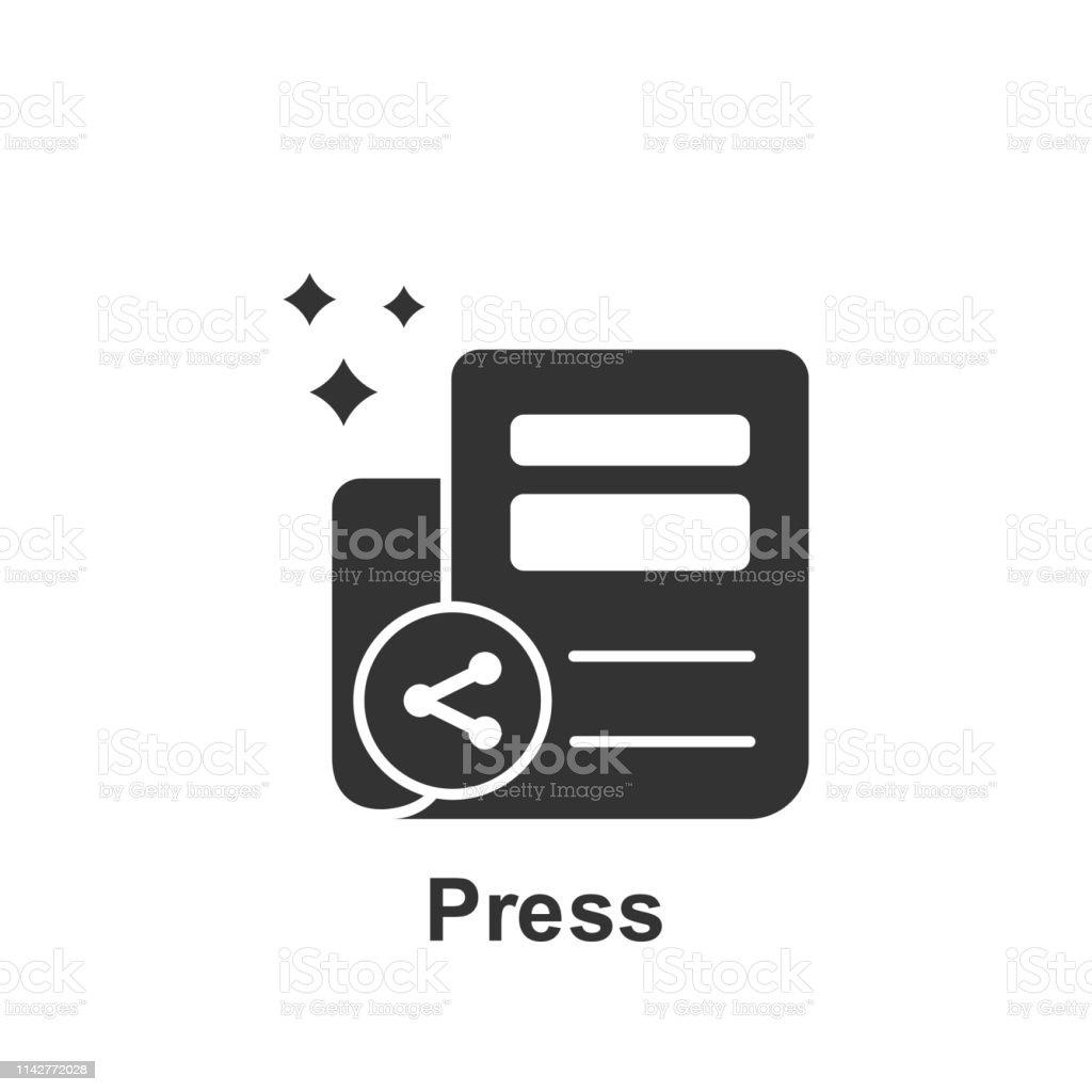 Online Marketing Press Icon Element Of Online Marketing Icon