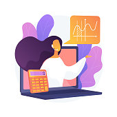 istock Online math tutoring abstract concept vector illustration. 1272669512