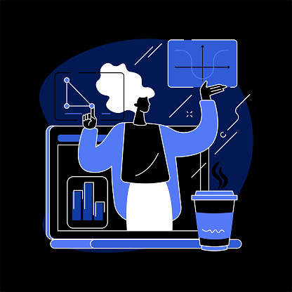 Online math tutoring abstract concept vector illustration.