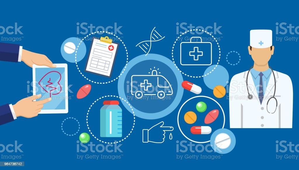 Online medicine banner royalty-free online medicine banner stock vector art & more images of adult