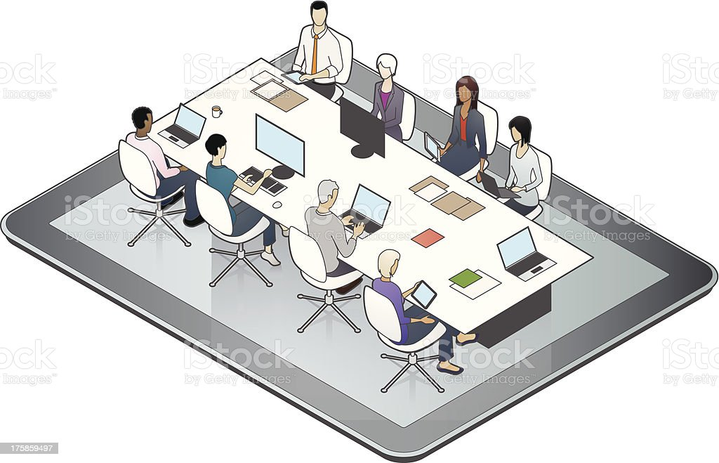 Online Meeting Illustration vector art illustration