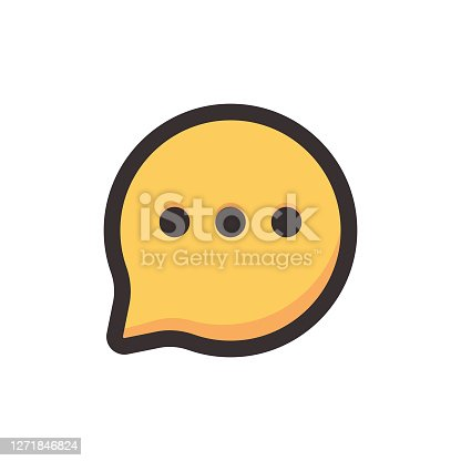 istock Online messaging icon design 1271846824