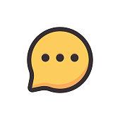 istock Online messaging icon design 1271846824